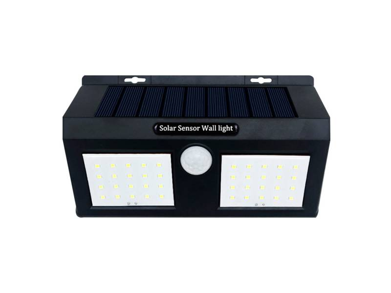 Luz exterior LED solar doble con sensor de movimiento